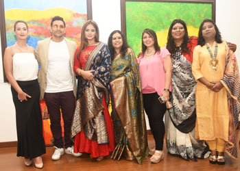 INAUGURATE NOTED ARTIST SANJUKTA ARUN'S SHOW IN AID OF CPAA