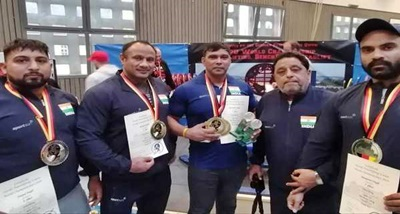 Surender Singh creates three world records at World Powerlifting C' ship