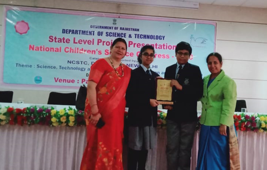 Ryan got 2nd Position in State Level Child Scientist Competition